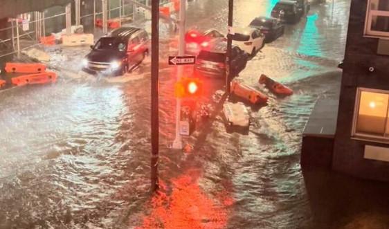 Bão Ida gây mưa kỷ lục, 2 bang ở Mỹ tuyên bố tình trạng khẩn cấp