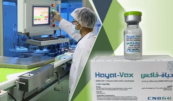 Phê duyệt khẩn cấp vaccine Hayat-Vax phòng COVID-19
