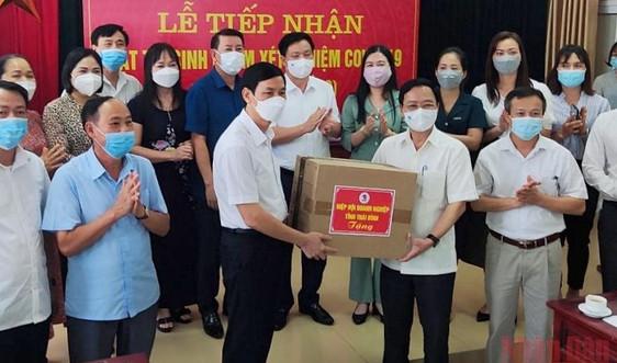 Hiệp hội doanh nghiệp tỉnh Thái Bình ủng hộ vật tư chống dịch trị giá 2 tỷ đồng