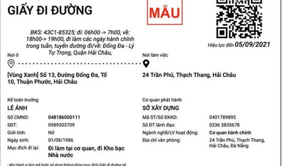 Đà Nẵng: Giấy đi đường QR code – tối ưu hoá CNTT để phòng dịch hiệu quả