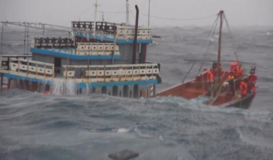 Cảnh sát biển vượt bão Côn Sơn, ứng cứu kịp thời 18 thuyền viên gặp nạn trở về đất liền an toàn