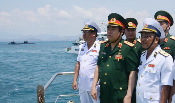 Những hình ảnh khôngquên giữa Đại tướng Phùng Quang Thanh với Bộ đội Hải quân