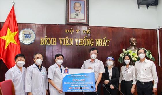 Petrolimex Sài Gòn trao tặng 500 triệu đồng hỗ trợ BV Dã chiến điều trị COVID-19 đa tầng Quận Tân Bình