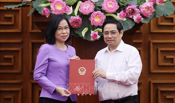 Thủ tướng trao Quyết định bổ nhiệm Tổng Giám đốc TTXVN cho đồng chí Vũ Việt Trang
