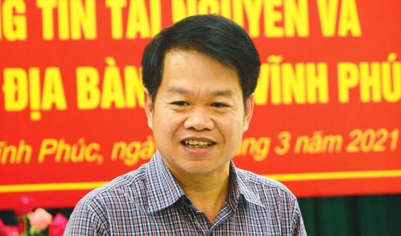 Ông Nguyễn Kim Tuấn giữ chức vụ Giám đốc Sở TN&MT tỉnh Vĩnh Phúc