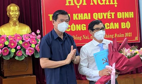 Phó Trưởng ban Tổ chức Tỉnh ủy nhậm chức Phó Chủ tịch UBND tỉnh Đồng Nai