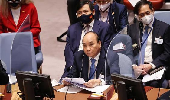 Chủ tịch nước Nguyễn Xuân Phúc: LHQ cần thiết lập cơ sở dữ liệu tổng thể về tác động đa chiều của tình trạng nước biển dâng