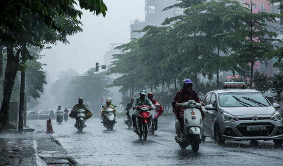 Thời tiết ngày 23/9, đồng bằng và trung du Bắc Bộ có mưa dông