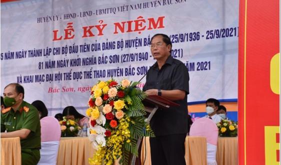 Lạng Sơn: Kỷ niệm 85 năm thành lập chi bộ Đảng đầu tiên và 81 năm ngày khởi nghĩa Bắc Sơn