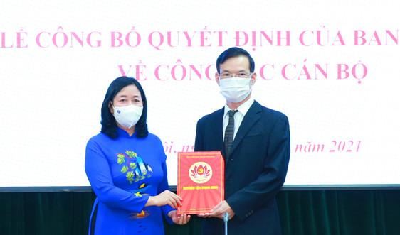 Điều động ông Triệu Tài Vinh giữ chức Phó Trưởng Ban Dân vận Trung ương