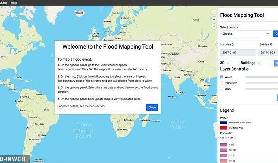 Bản đồ lũ lụt thế giới trực tuyến góp phần phòng chống thiên tai hiệu quả