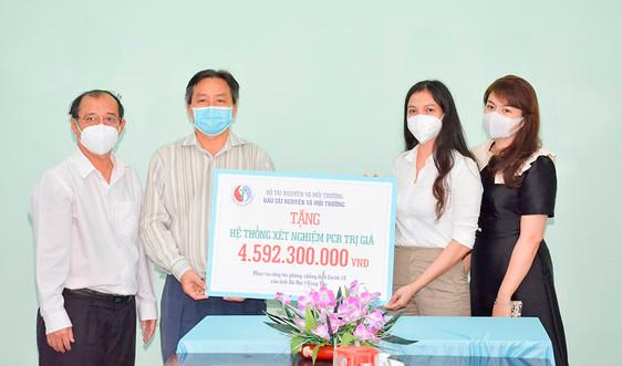 Báo Tài nguyên và Môi trường trao tặng máy xét nghiệm PCR trị giá 4,6 tỷ đồng cho tỉnh Bà Rịa – Vũng Tàu