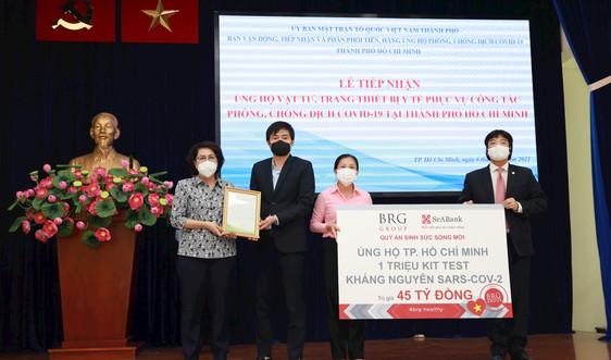 Tập đoàn BRG và Ngân hàng SeABank ủng hộ 1 triệu kit test kháng nguyên SARS-COV-2 cho TP. Hồ Chí Minh