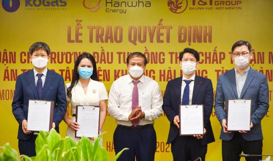 Quảng Trị trao quyết định chủ trương đầu tư dự án Trung tâm điện khí LNG Hải Lăng trị giá 2,3 tỷ USD