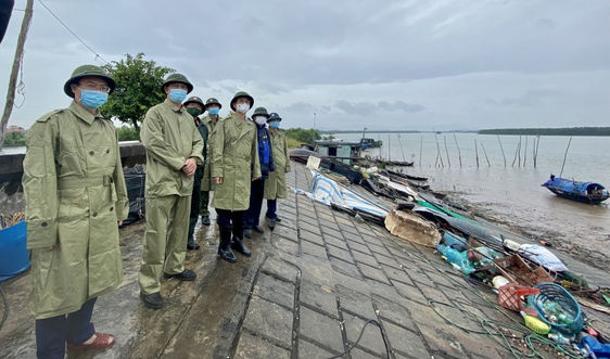 Lãnh đạo tỉnh Quảng Ninh kiểm tra công tác phòng, chống bão số 7 tại TX.Quảng Yên