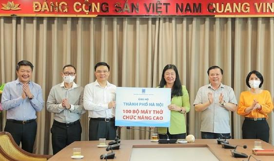 Petrovietnam hỗ trợ Hà Nội 100 bộ máy thở chống dịch