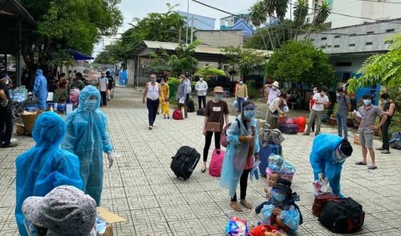 Ninh Bình tiếp tục đón công dân từ một số tỉnh phía Nam về quê