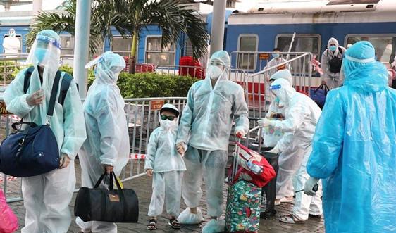 Ninh Bình: Đón thêm 568 công dân từ vùng dịch phía Nam về quê an toàn