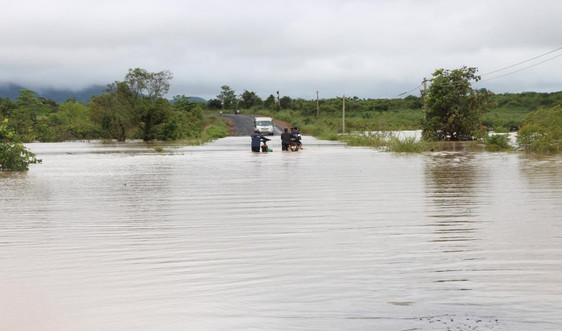 Đắk Lắk: Mưa lớn gây ngập lụt tại nhiều địa phương