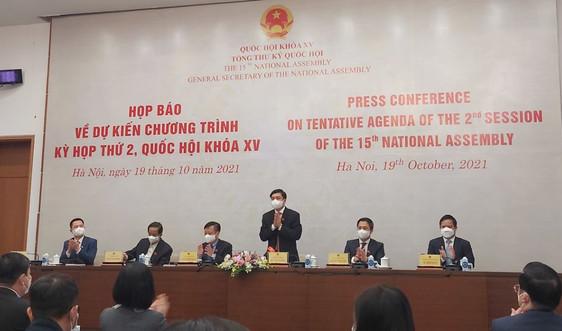 Quốc hội xem xét, thông qua 2 dự án luật, 5 dự thảo Nghị quyết tại Kỳ họp thứ 2