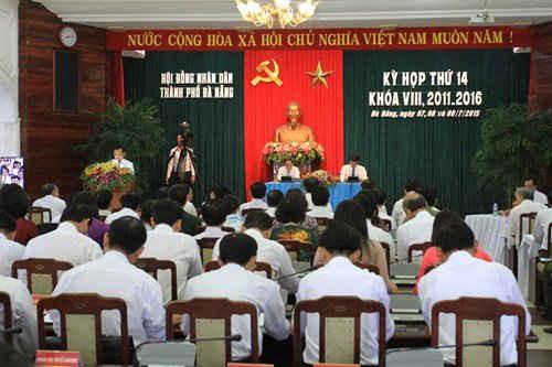 Khai mạc kỳ họp thứ 14, HĐND TP. Đà Nẵng khóa VIII, nhiệm kỳ 2011-2016