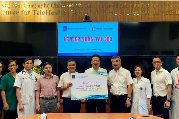 PVN, PV GAS trao tặng thiết bị y tế cho Bệnh viện Đại học Y Hà Nội