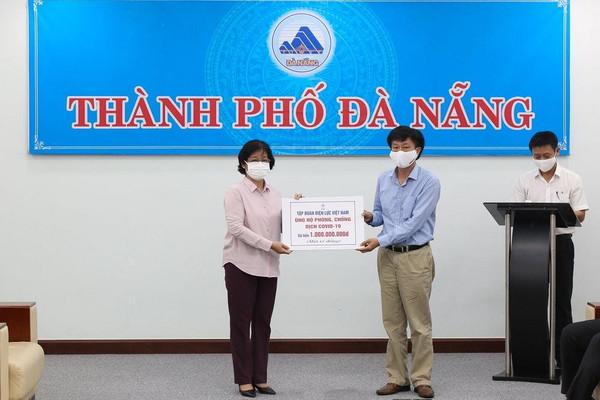 EVN ủng hộ Đà Nẵng 1 tỷ đồng phục vụ công tác phòng chống dịch COVID-19