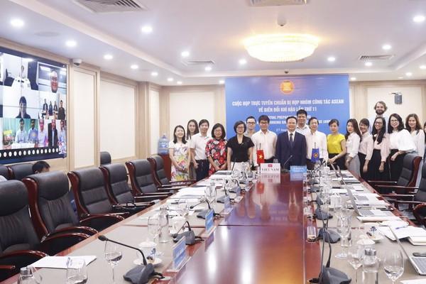 Hội nghị trực tuyến nhóm công tác ASEAN về biến đổi khí hậu