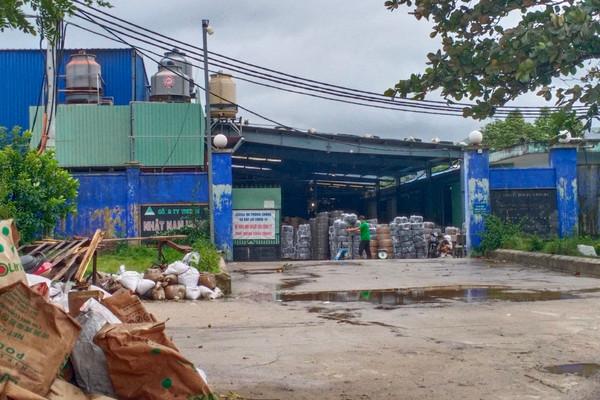 Bình Định: Công ty Phú Linh khai thác đất san gạt mặt bằng, xây nhà xưởng không phép