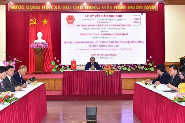 Thừa Thiên Huế và AEONMALL Việt Nam xúc tiến thành lập dự án trung tâm thương mại 150 triệu USD