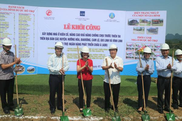106 hộ dân tại Quảng Trị được hỗ trợ xây dựng nhà ở phòng tránh thiên tai