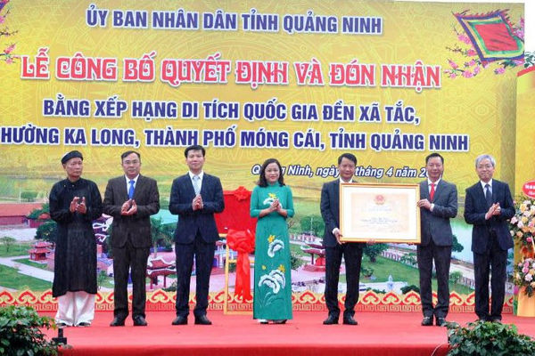Quảng Ninh: Công bố quyết định xếp hạng di tích Quốc gia đền Xã Tắc
