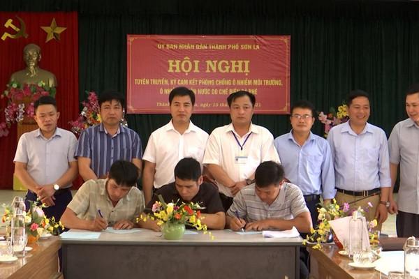 TP Sơn La ký cam kết phòng chống ô nhiễm môi trường, nguồn nước