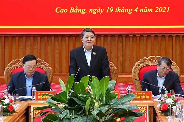 Phó Chủ tịch Quốc hội Nguyễn Đức Hải giám sát, kiểm tra công tác bầu cử tại Cao Bằng