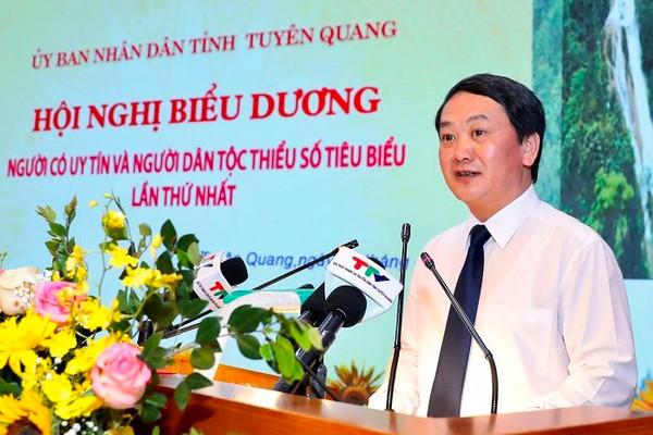 Bộ trưởng Hầu A Lềnh đánh giá cao đóng góp của Người có uy tín và người DTTS tiêu biểu tỉnhTuyên Quang