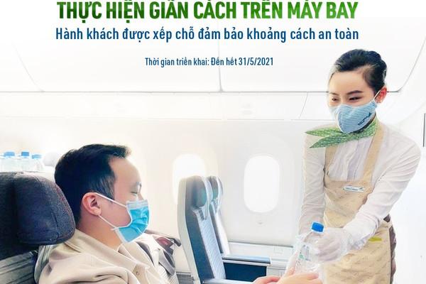 Bamboo Airways thực hiện giãn cách trên máy bay
