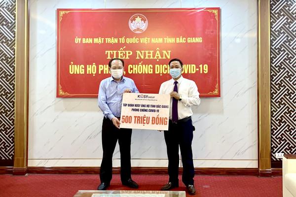 Tập đoàn KoSy trao tặng tỉnh Bắc Giang 500 triệu đồng phòng chống dịch Covid - 19