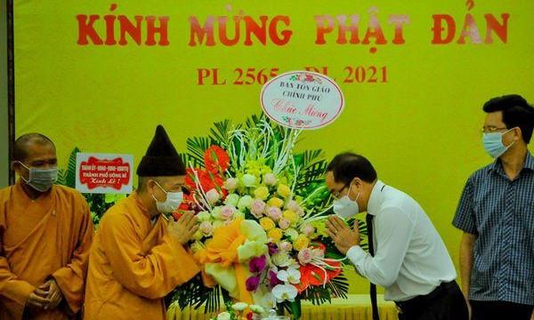 Thứ trưởng Bộ Nội vụ Vũ Chiến Thắng chúc mừng Giáo hội Phật giáo Việt Nam tỉnh Quảng Ninh