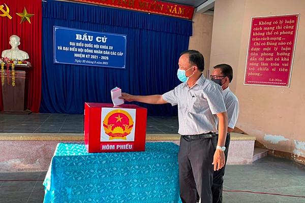 Đến 15h, Quảng Nam có 2 huyện miền núi đạt 100% cử tri đi bầu cử
