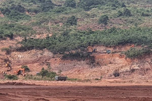 Nghi Sơn (Thanh Hóa): Công ty Công Thanh tiếp tục vi phạm trong khai thác khoáng sản