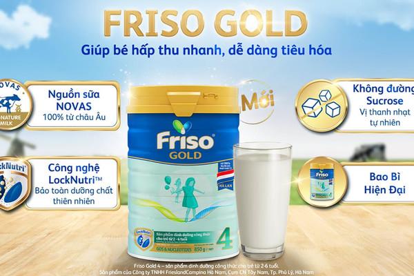 Đột phá từ Friso Gold mới: Nguồn sữa Novas chứa đạm nhỏ tự nhiên, giúp bé tiêu hoá dễ dàng