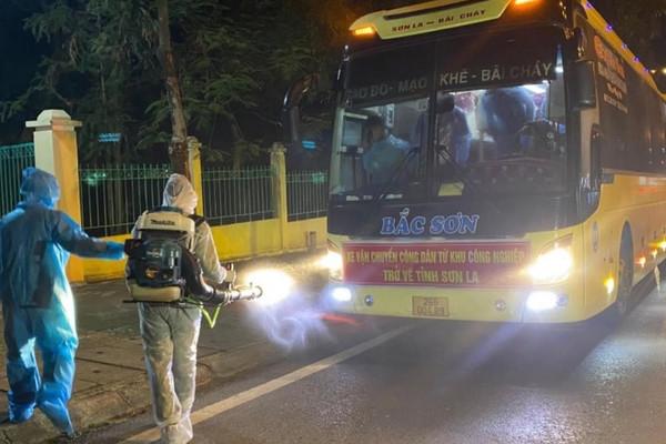 Sơn La đón 440 công dân từ Bắc Giang trở về địa phương