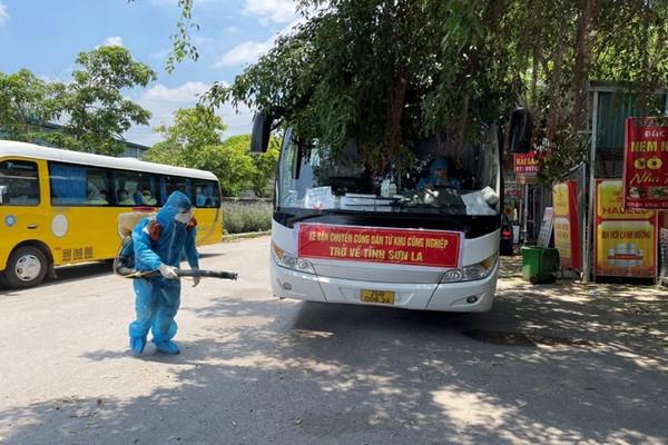 Sơn La: Tiếp tục đón 527 công dân từ Bắc Giang về địa phương