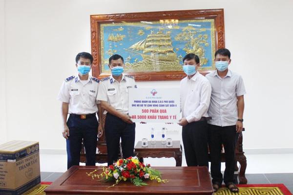 Bộ Tư lệnh Vùng Cảnh sát biển 4 tiếp nhận vật tư y tế chống dịch Covid -19