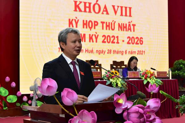 HĐND tỉnh Thừa Thiên Huế bầu các chức danh chủ chốt nhiệm kỳ 2021 -  2026