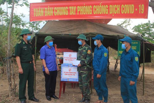 """Quảng Trị: Giữ vững an ninh biên giới là giữ vững """"hàng rào"""" chống dịch Covid-19"""