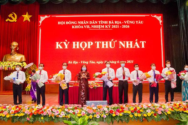 Bà Rịa-Vũng Tàu bầu các chức danh chủ chốt HĐND, UBND tỉnh