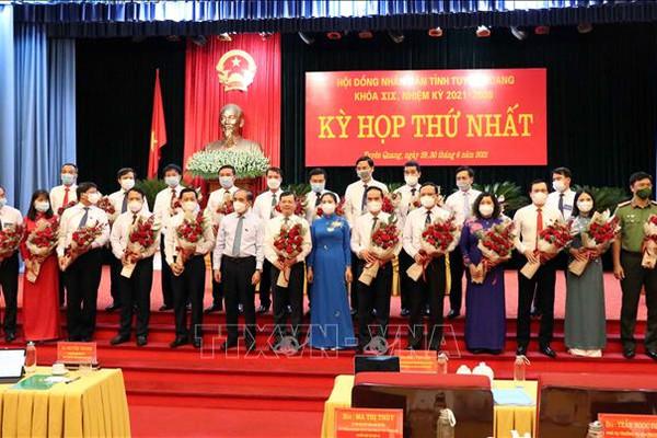 Tuyên Quang bầu các chức danh chủ chốt HĐND, UBND tỉnh