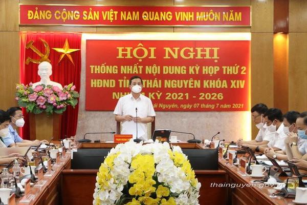 HĐND tỉnh Thái Nguyên khóa XIV tổ chức hội nghị thống nhất nội dung Kỳ họp thứ hai