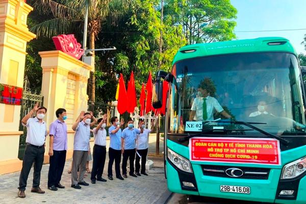 Thanh Hóa: 59 y bác sĩ lên đường hỗ trợ TP Hồ Chí Minh chống dịch